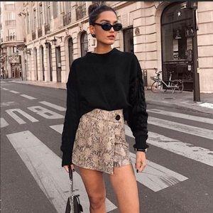 Zara snake skin mini skirt sz large